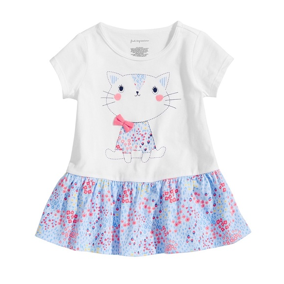 First Impressions Other - NWT First Impressions Floral Cat Tunic Top 18mo